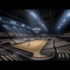 Basketball Gym 007 3D Model