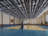 Basketball Gym 009 3D Model