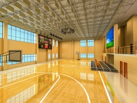 Basketball Gym 013 3D Model