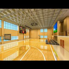 Basketball Gym 013 3D Model