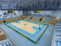 Basketball Gym 016 3D Model