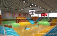 Basketball Gym 019 3D Model
