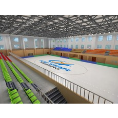 Indoor skating Hall 3D Model