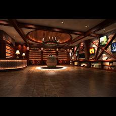 Bar Space 001 3D Model