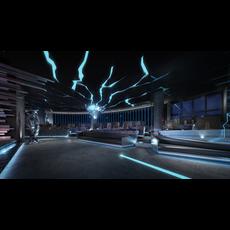 Internet cafe Space 001 3D Model