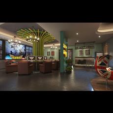 Internet cafe Space 009 3D Model
