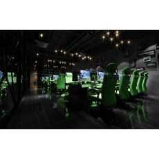 Internet cafe Space 012 3D Model