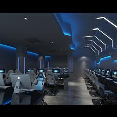 Internet cafe Space 021 3D Model