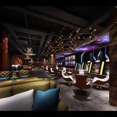 Internet cafe Space 025 3D Model