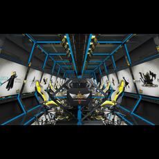 Internet cafe Space 029 3D Model