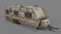 Abandoned Caravan 3D Model