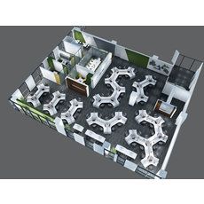 Office Space 035 3D Model