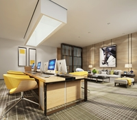 Office Space 054 3D Model