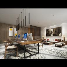 Office Space 055 3D Model