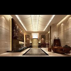 Lobby Space 001 3D Model