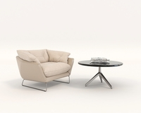 Contemporary Design Armchair Set 3D Model