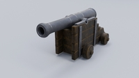 Low poly Cannon Low-poly  Low-poly 3D Model