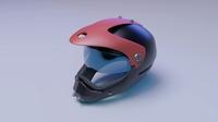 Helmet racer scifi Helmet 3D Model