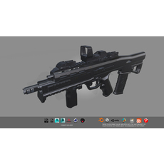 Low-poly Rifle  Low-poly 3D Model