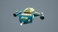Spaceship Sci-Fi Dropship 3D Model