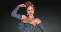 Erika Animated 3D Model
