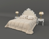 European Style Bed 3 3D Model