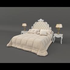 European Style Bed 3 3D Model