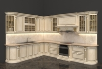 European Style Kitchen 3D Model