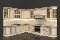 European Style Kitchen 3D Model