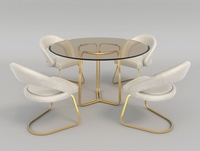 Modern Table and Chair Set 3D Model