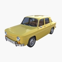 Generic 60s European Car with Interior 3D Model