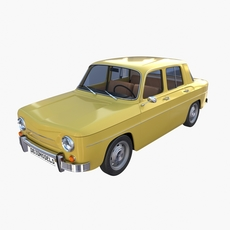Generic 60s European Car with Interior 3D Model