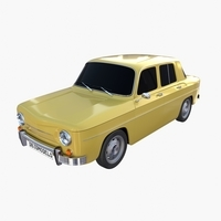 Generic 60s European Car 3D Model