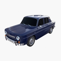 Dacia 1100 Dark Blue 3D Model