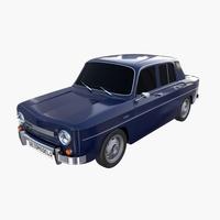 Dacia 1100 Dark Blue 3D Model