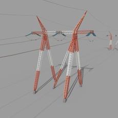 Electricity Pole 25 3D Model
