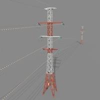 Electricity Pole 27 3D Model