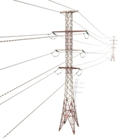 Electricity Pole 27 Weathered 3D Model
