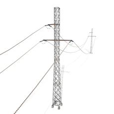 Electricity Pole 28 3D Model