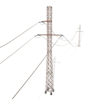 Electricity Pole 28 Weathered 3D Model