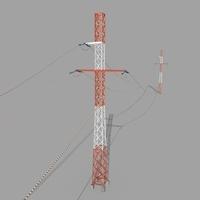 Electricity Pole 29 3D Model