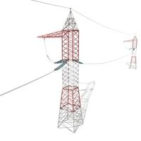 Electricity Pole 30 3D Model
