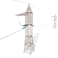Electricity Pole 30 Weathered 3D Model