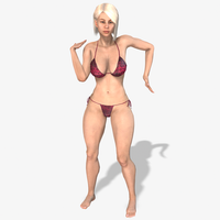 Chanel 3D Character Animated 3D Model