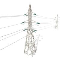 Electricity Pole 31 3D Model