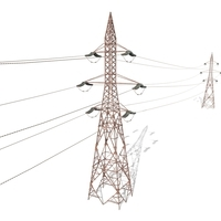 Electricity Pole 31 Weathered 3D Model