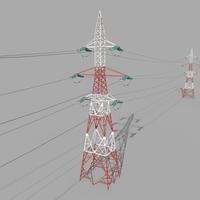 Electricity Pole 32 3D Model