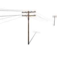 Electricity Pole 33 3D Model