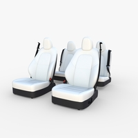 Tesla Model Y Seats White 3D Model