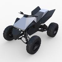 Tesla Cyberquad ATV 3D Model